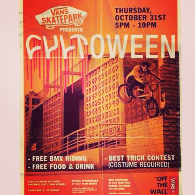 Bring your bike and your costume.  #cultshit